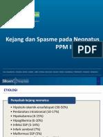 Kejang Dan Spasme Pada Neonatus PPM IDAI Ed II