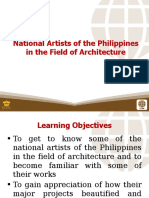 4 National Artists of the Philippines in the Field of Architecture