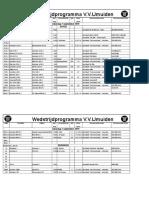 Schema vv IJmuiden 2019-09-07