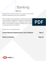 Business Banking Terms and Conditions