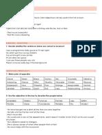 B1 - Vocabulary Unit 1 - Adjectives