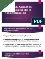 Aspectos Psicosociales de La Hospitalización