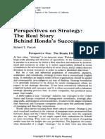 Strategy Behind Honda Success