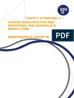 Hazard Identification Reporting and Workplace Inspections - Group Safety Standard 11