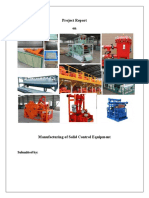 Project Report on Solid Control Equipment Manufacturing- Petropath