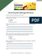 05 Identifying Selfsab Worksheet