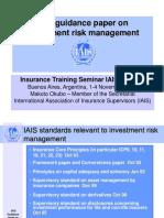 IAIS Investment Risk Management ASSAL