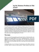 Restaurant Misture Condensation Issues