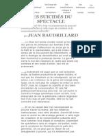 Baudrillard, Jean - Les Suicideìs Du Spectacle