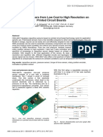 Capacitive Sensors from Low Cost to High Resolution on Printed Circuit Boards