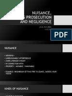 4 Nuisance Negligence and Malicious Prosecution