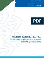 Guia de lineamientos para las aplicaciones muestral y censal - saber 359 2012.pdf