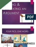 Trace Evaluate Arguments