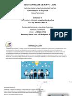 ACT 1000 Presentacion Ejecutiva en Proyecto Personal