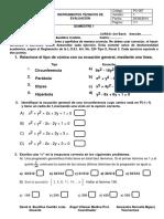 3ero de Bachillerato Evaluacion 1er Quimestre