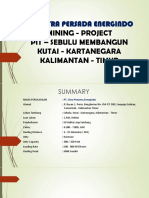 Summary Mining Sebulu Kaltiim