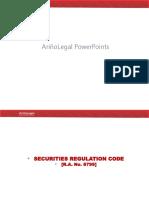 ArinoLegal PowerPoints Securities Regulation Ver2019Aug03