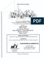 Working (New, Revised) - NEW MTI Piano Vocal Score
