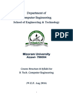 MZU Computer Engineering Syllabus