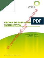 Orona 3g 6014 Assemply Instruction