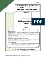 4. Soal Bhs Inggris Paket 1 wajib 2013.doc