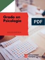 Grado en Psicologia