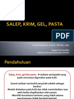 Salep, Krim, Gel, Pasta