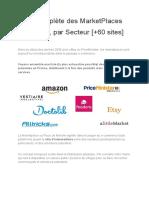 Liste Complète des MarketPlaces en France, par Secteur [+60 sites]