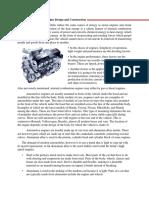 Engine Orientation Engine Design and Construction Writtern Report