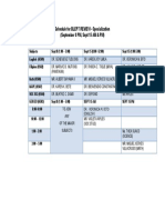 Schedule for Blept Review Specialization