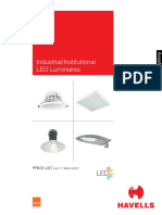 Professional LED Luminaire Price List March 2016