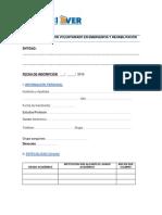 8 Ficha de Inscripcion Voluntariado en Emergencia y Rehabilitación