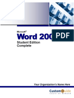 Word 2003 Student Edition