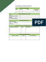Ficha de Control de La Protección Auditiva