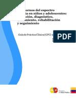 GUIA PRACTICA CLINICA PARA EL DIAGNOSTICO DE TEA
