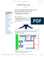 How to Configuring SAP CRM 7.0 for Download and Use of Variant Configuration Products - SAP IPC Developer