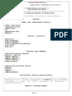 Certificado Camara de Comercio