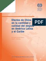 Efectos de China en La Cantidad y Calidad de Empleo en America Latina