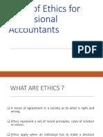 Code of Ethics for Accountants