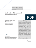 An Overview of Environmental Jurisprudence in India