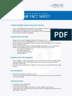 CUA Exam Fact Sheet