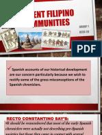 Ancient Filipino Communities Group 1