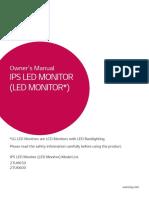 User Manual for the LG 27UK600/27UK650 IPS LED Monitor