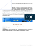 "Most Important MCQs About ""PLATO"" _ CSS Political Science MCQs"