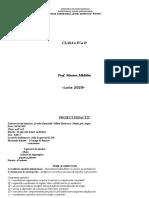 Proiect Didactic Cls a IV-A d - Lectie La Clasa Titularizare