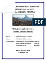 Incendios Forestales en La Chiquitania. Grupo 3