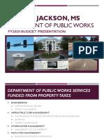 2019 Public Works Budget Presentation
