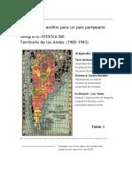 Un territorio andino para un país pampeano