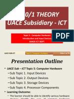 Computer Hardware Intro&Input UACE Sub-ICT