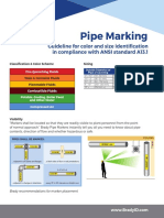 Pipe Marker Reference Informational Sheet